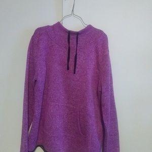 Dark pink hoodie